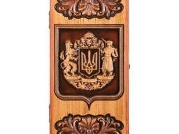 "Backgammon ""Ukrainian coat of arm"" #3"