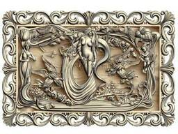 "Carved panel – ""Tamed woman"""
