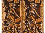Эксклюзивные резные нарды «Спартанка» ручной работы - фото 2