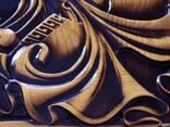 Эксклюзивные резные нарды «Спартанка» ручной работы - фото 3