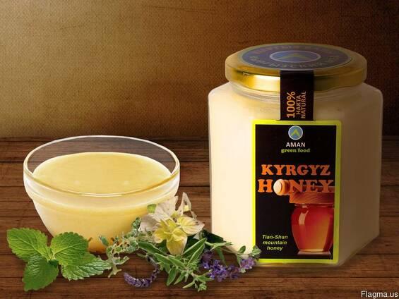 """Натуральный белый горный мёд """"Kyrgyz Honey"""""""