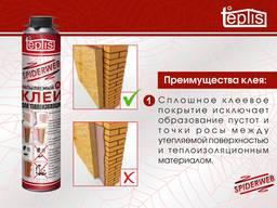 Строительный клей для теплоизоляции Teplis Spiderweb 1000ml - photo 2