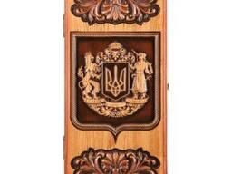 "Backgammon ""Ukrainian coat of arm"" #3"