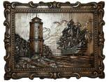 """Carved panel – """"Lighthouse"""" - photo 1"""