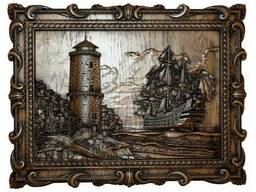 "Carved panel – ""Lighthouse"""