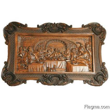 "Carved panel – ""The Last Supper"""