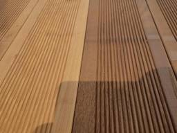 Decking, Planken, wooden mosaic of heat-treated birch