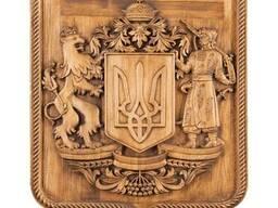 Деревянный резной Герб Украины - photo 4