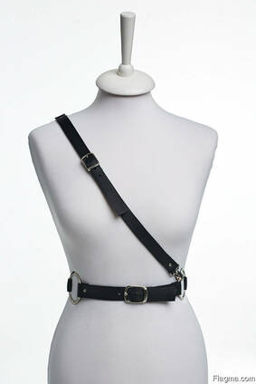 Leather diagonal-harness ALINA MUHAleather accessory