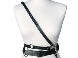 Leather heart harness ALINA MUHA leather accessory - photo 3