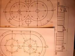 Рабочие чертежи изобретения РМколь-6 насос компрессор привод